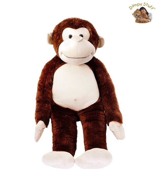 Dimpy Stuff Adorable Brown Monkey With Loose Legs Soft Toy-90 cm