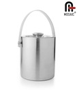 Mosaic Stainless Steel Elegant Ice Bucket & Tongs