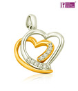 Surat Diamond Harmonious Love Diamond Pendant