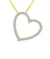 Sparkles Pristine Heart Shaped Diamond Pendant