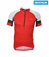 Btwin Red & White 5 Cycling Jersey