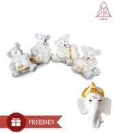 SRMAH Cute Teddy Bear Set - 4 Pcs