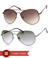 Joe Black Sparkling Grey Aviator Buy 1 Get 1 Brown Aviator Free