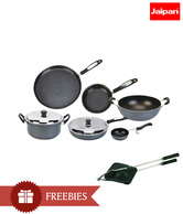 Jaipan Non- Stick Cookware Set With Free Gas Toaster