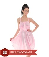 Affair Enchanting Light Pink Printed Nighty