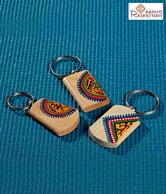 Aapno Rajasthan Wooden Key Chain Set