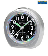 Rhythm Round Black Dial Table Clock
