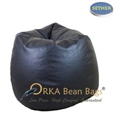 Orka Bean Bags Classy Black Bean  Bag