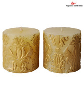 Fragrance World India Set of Two  Ivory Festive Candle