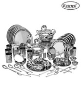 Everwel Stainless Steel Jumbo 90 Pcs Dinner Set