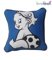 Homeblendz Cute Kids Pattern Cotton Cushion Cover