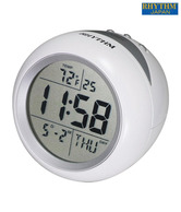 Rhythm Snooze & Light Round White Table Clock