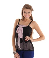 Latin Quarters Chic Black Tube Top
