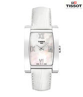 Tissot  MOP Dial White Leather Watch