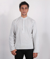 Erato White & Blue Designer Kurta