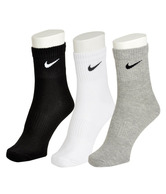 Nike Grey, Black & White Socks - 3 Pair Pack
