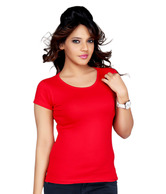 Clifton Red Cotton T-Shirt