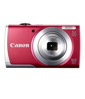 Canon PowerShot A2500 16MP Point & Shoot Digital Camera (Red)