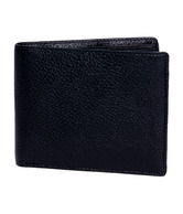 Walletsnbags Black Textured Finish Wallet