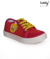 Tweety Fuchsia Pink & Red Casual Shoes