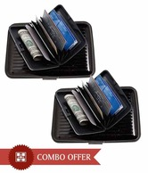 Coal Black Hard Aluminium  Case Card Holder Combo
