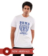Puma White Cricket Half Sleeves T-Shirt