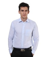 Mushky Sky Blue Full Sleeves Men's Shirt