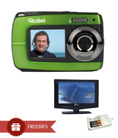 Rollei Sportsline 62 Camera (Green) + Maxis Green Magic Charger + Maxis LCD TV 22Inch with Built in DVD Player