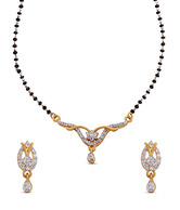 Oleva Elegantly Shaped Mangalsutra Set