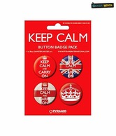 Keep Calm And Carry On Badgepacks