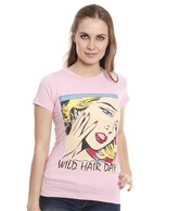 Bushirt Wild Hair Day Pink T-Shirt