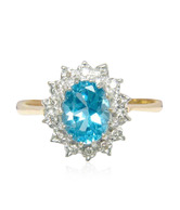 Sheetal Diamond Elite Diamond & Blue Stone Studded Ring