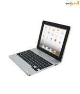 Callmate 4000mAh Li Battery Wireless Bluetooth Keyboard Case Silver For IPad 2, 3 & 4