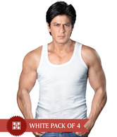 ONN White Pack of 4 Vests