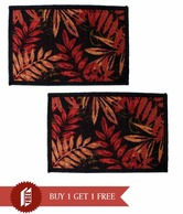 Home Candy Leaf Design Doormats- Buy 1 Get 1