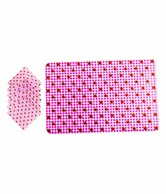 Enfin Homes Pink Placemats & Coasters- Set Of 6