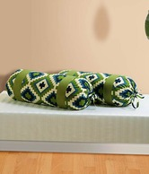 Swayam Green Bolster Cover- Set Of 2