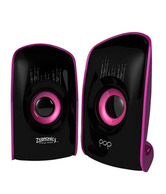 Zebronics 2.0 Computer Multimedia Speaker (Pop) Black-Purple