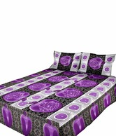 Shop Rajasthan 100% Cotton Apple Print Double Bed Sheet & 2 Pillow Covers