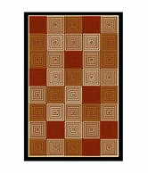 FabLooms Brown Designer Anti-skid Rug- Small