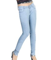 Channel F Denim Light Blue Slim Fit Jeans