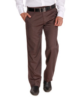 Alano Dark Brown Cotton Trousers