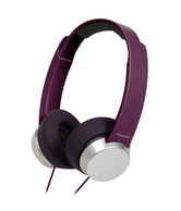 Panasonic Stylish Headphone with Powerful Sound with Mic for All Smartphones,RP-HXD3WE-V