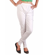 Teemoods White Cotton Leggings