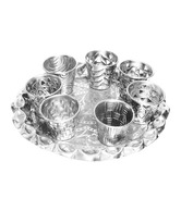 The Decoration Store Elegant Votive Holder Set With Tray