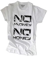 Unisopent White & Black No Money T-Shirt