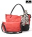 Calvino Red Snake Print Handbag & Sling Bag Set