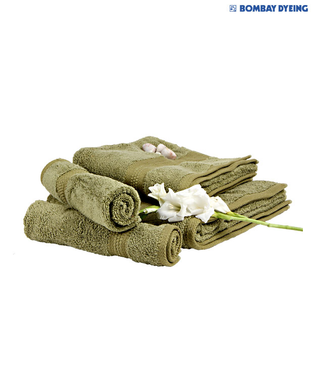Bombay Dyeing Super Ultrx Green Bath & Hand Towel Set