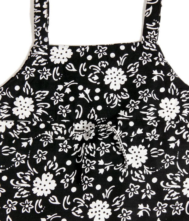 Mangostreet Black Printed Sleeveless Top & Skirt Set
