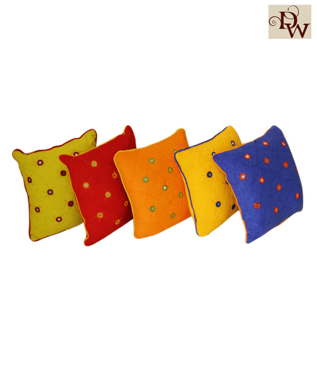 Home Kraft Multi-Coloured Cushion Cover Set